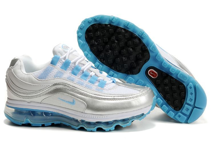 Nike Air Max 24 7 Silver Sky Blue Womens Shoes#Air Max Womens#sale