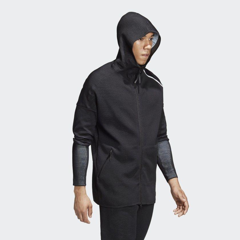 buy good huge sale pretty cool adidas Z.N.E. Parley Primeknit Hoodie Black DH1405 in 2019 ...