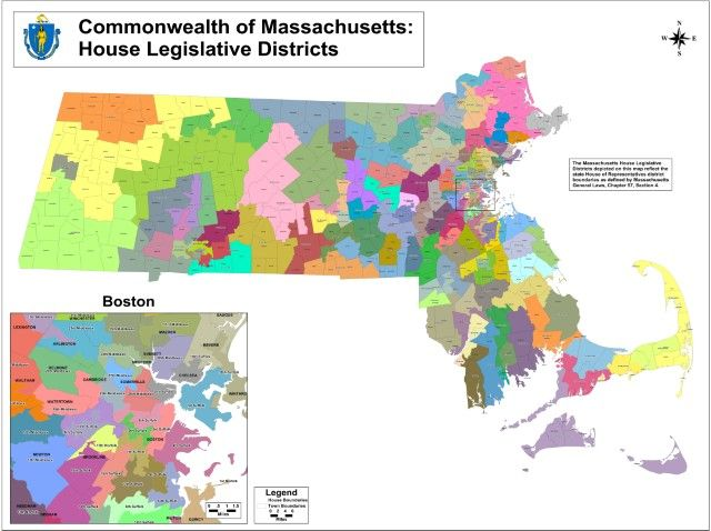 Districts: This Is An Example Of A House Of Representatives District Map  That Outlines The