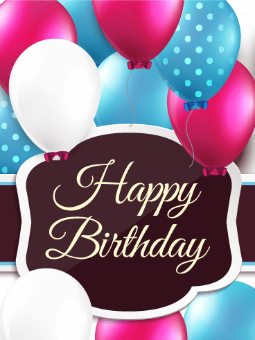 Send Free Polkadots Birthday Balloon Card To Loved Ones On Greeting Cards By Davia Its 100 And You Also Can Use Your Own Customized