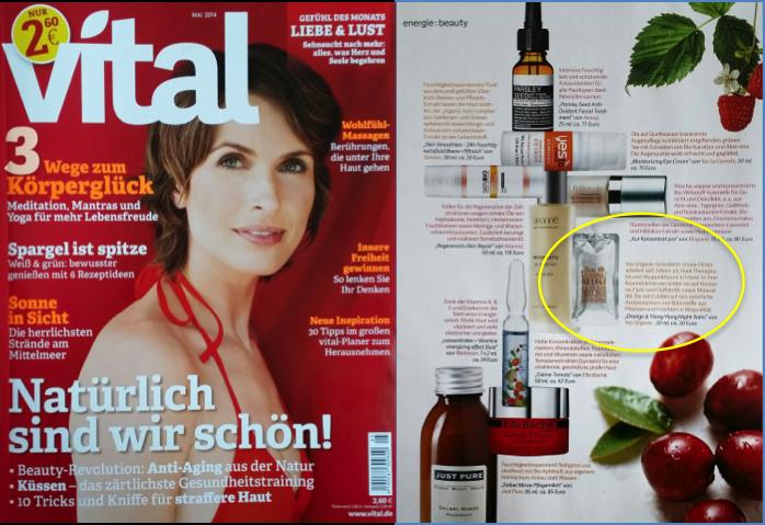 """Das wundervolle Nightbalm von YouOrganic Skincare in der Mai-Ausgabe des Magazins """"Vital"""" http://www.mycoralie.de/beauty/you-organic-skincare-natuerliche-gesichtspflege-fuer-die-nacht.html"""