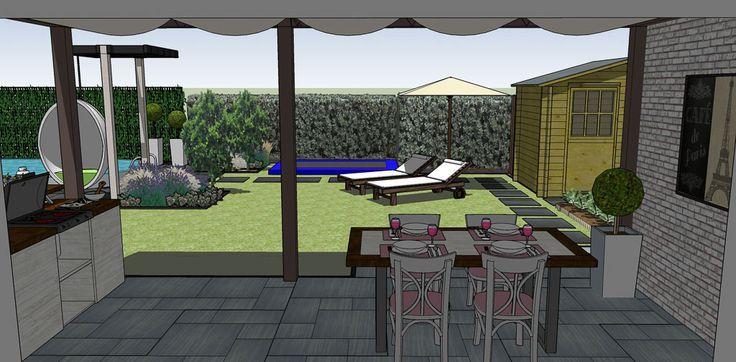 Favoriete Afbeeldingsresultaat voor tuinontwerp brede ondiepe tuin | tuin in #EE38