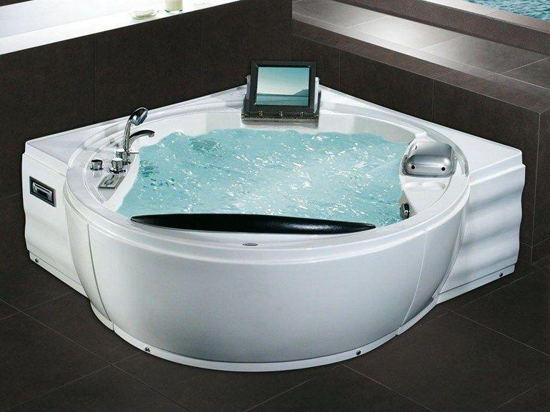 WOW! I need a bigger bathroom.... 2 seater corner whirlpool bathtub ...