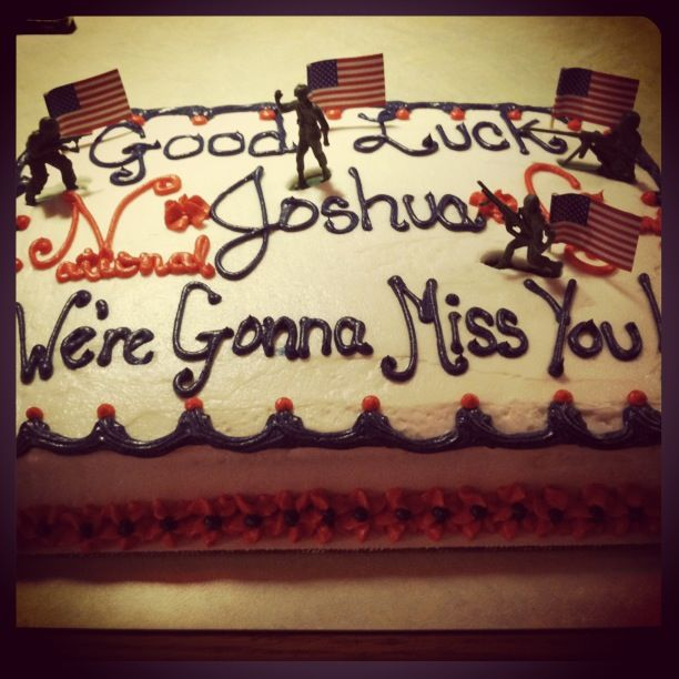 National Guard Going Away Cake Army National Guard National