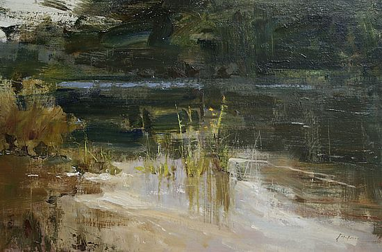 "Down by the River by Simon Addyman Oil ~ 16"" x 24"""