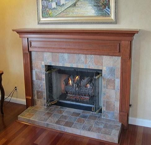 fireplace raised hearth. how to deal with mantel that overhangs hearth  Fireplace fireplace