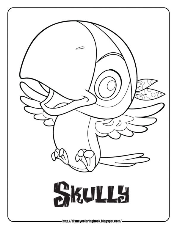 Jake And The Neverland Pirates Coloring Pages Scully Pirate