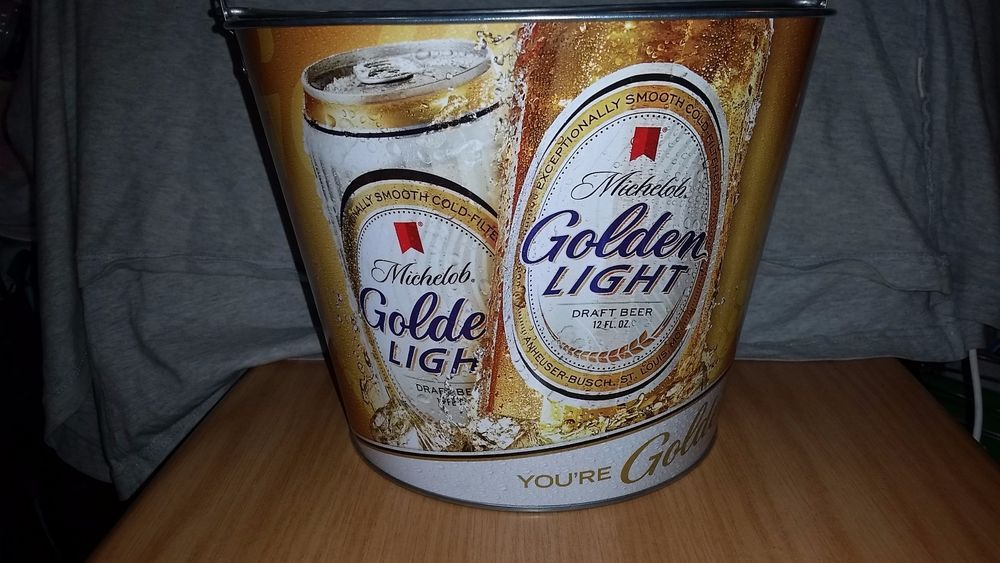 #Michelob #Golden #Light 5 Quart #Ice #Beer #Metal #Bucket New Unused Many Uses #breweriana