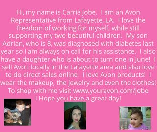 Carrie the AVON Junky: More about your Avon Lady!