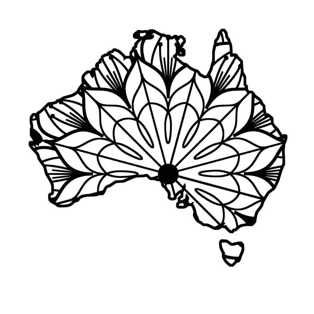 Australia Map Mandala Australia Map Mandala Svg Tatouage