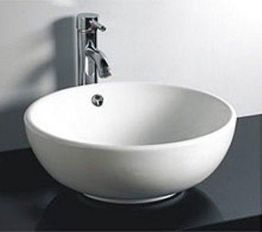 Dax215 White Modern Bathroom Vessel Sink Ceramic  Bathroom Fair Small Bathroom Vessel Sink Design Decoration