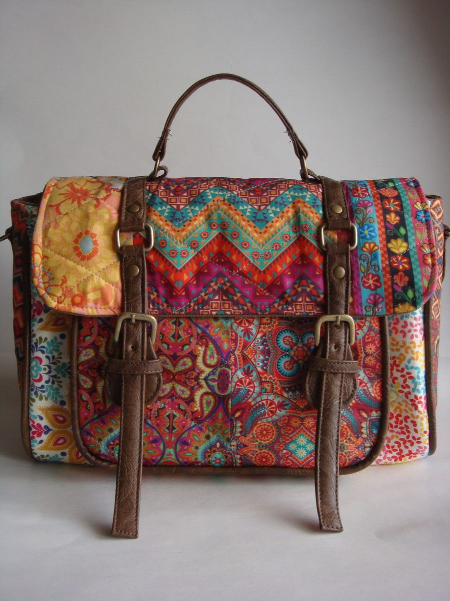 Bolsa Carteiro - Caqui   Nähmuster, Taschen nähen und Nähen