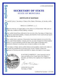 Montana Certificate Of Good Standing For Your Small Business Promote Your Business Montana Best