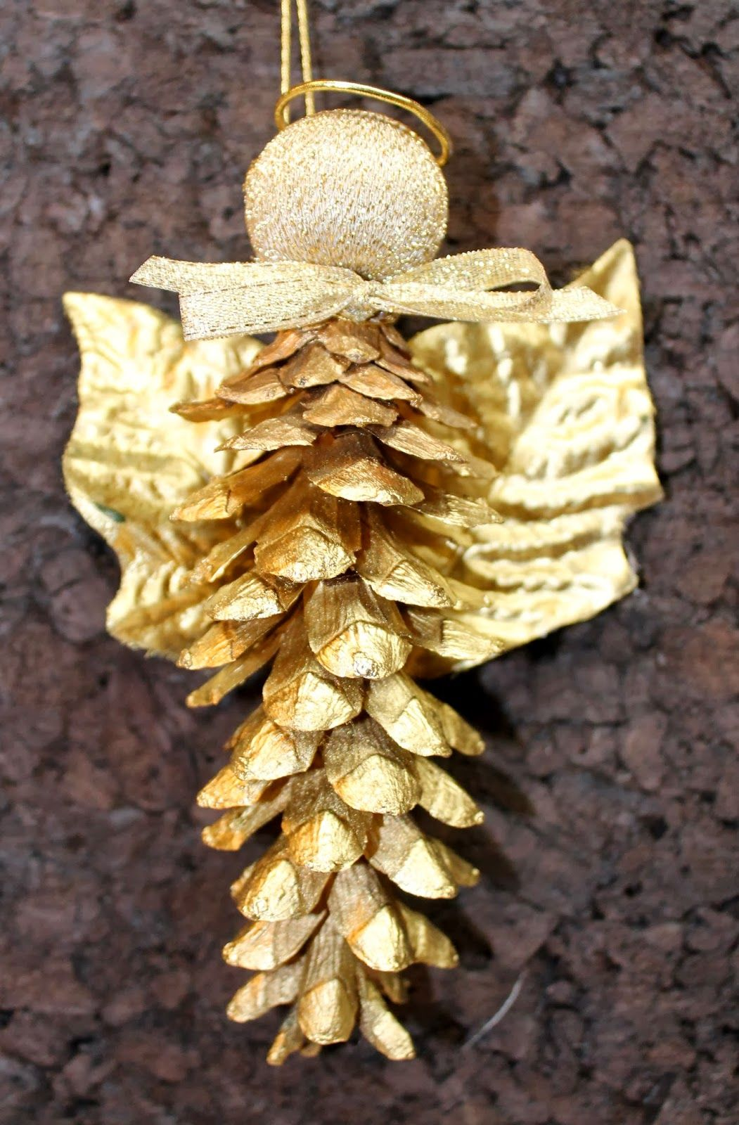How To Make A Pine Cone Christmas Angel Christmas Angels Christmas Angel Ornaments Christmas Decorations For Kids
