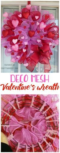 Photo of How to Make a Deco Mesh Valentine Wreath