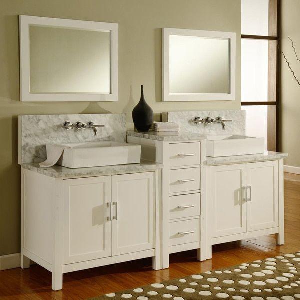 Direct Vanity Sink Horizon Double Premium Bathroom Set With Mirror