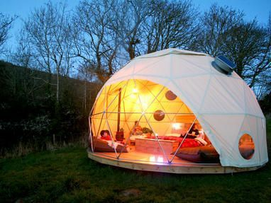 Tents perched on elevated timber decks luxury modern stable conversions and a spacious geodesic u0027 & Tents perched on elevated timber decks luxury modern stable ...