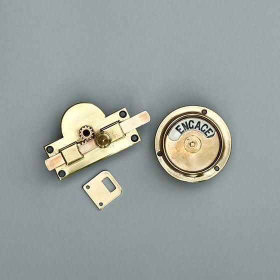 表示錠 Vacant Engaged アンティーク 真鍮の室内用ロック トイレ