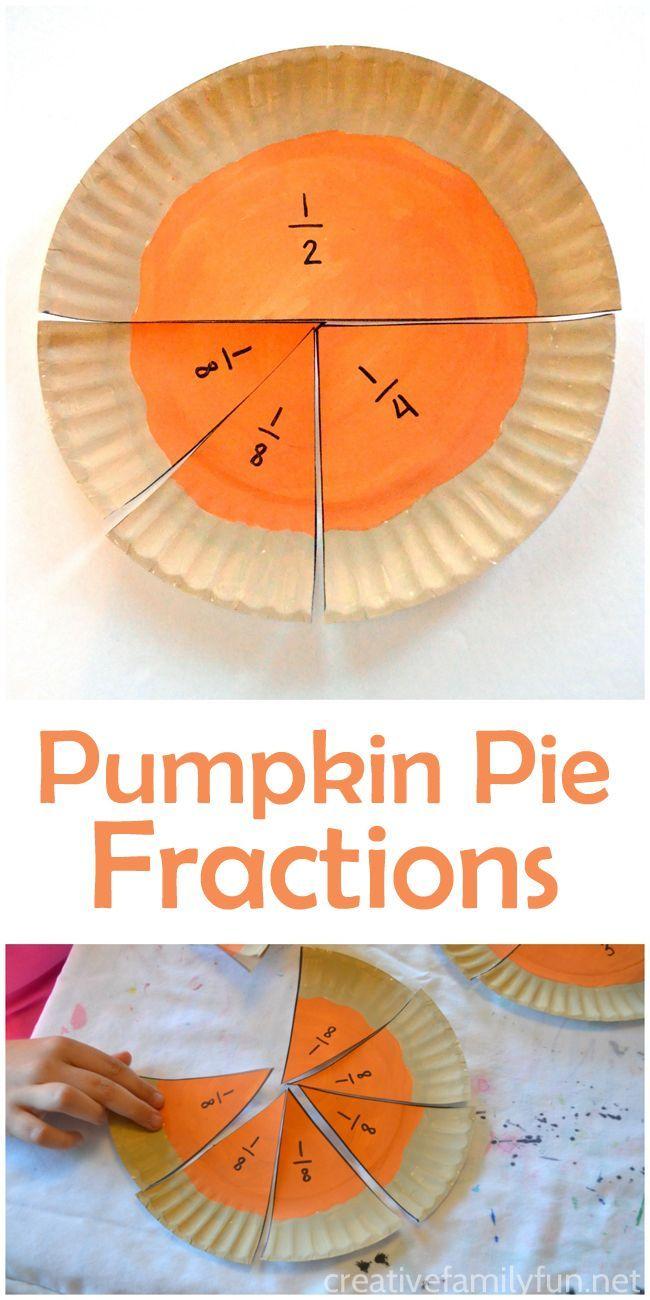 Pumpkin Pie Fractions Math Activity | Pinterest | Thanksgiving math ...