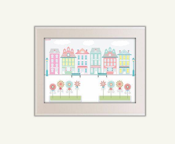 living room artroom art printsprints por Ilustracionymas en Etsy