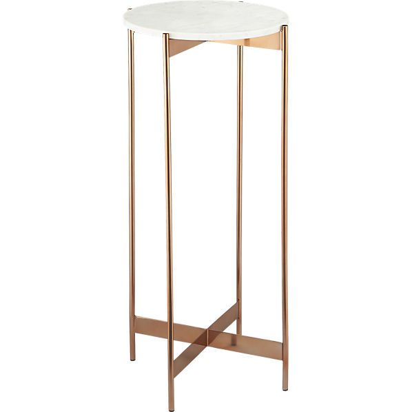 Marble Rose Gold Tall Pedestal Table Pedestal Table Marble