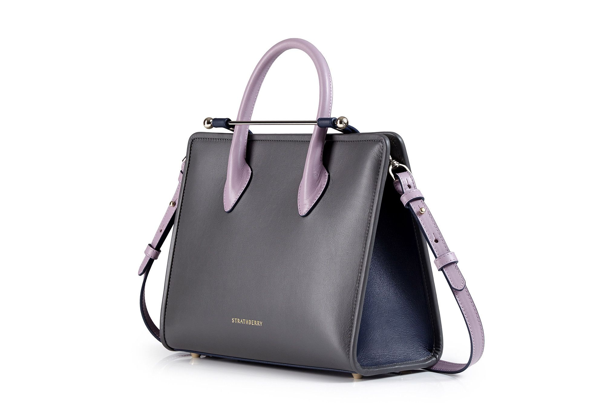2828405cb316 The Strathberry Midi Tote - Charcoal Navy Lilac. Find this Pin and more on  Bag ...