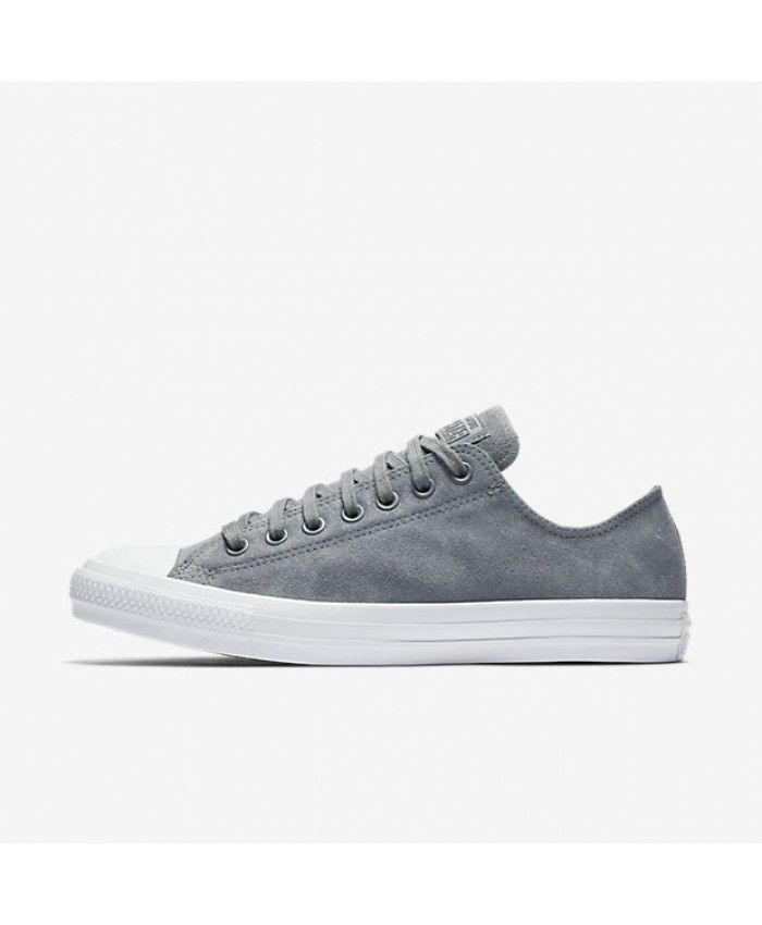 631fc7e015fd Converse Chuck Taylor All Star Water Resistant Suede Low Top Cool Grey  157600C-039