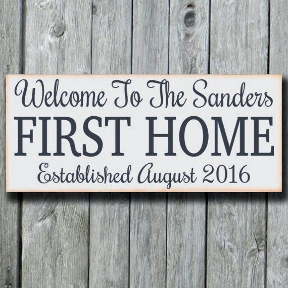 Our First Home Sign,Personalized Welcome House Plaque,Wedding Gift ...