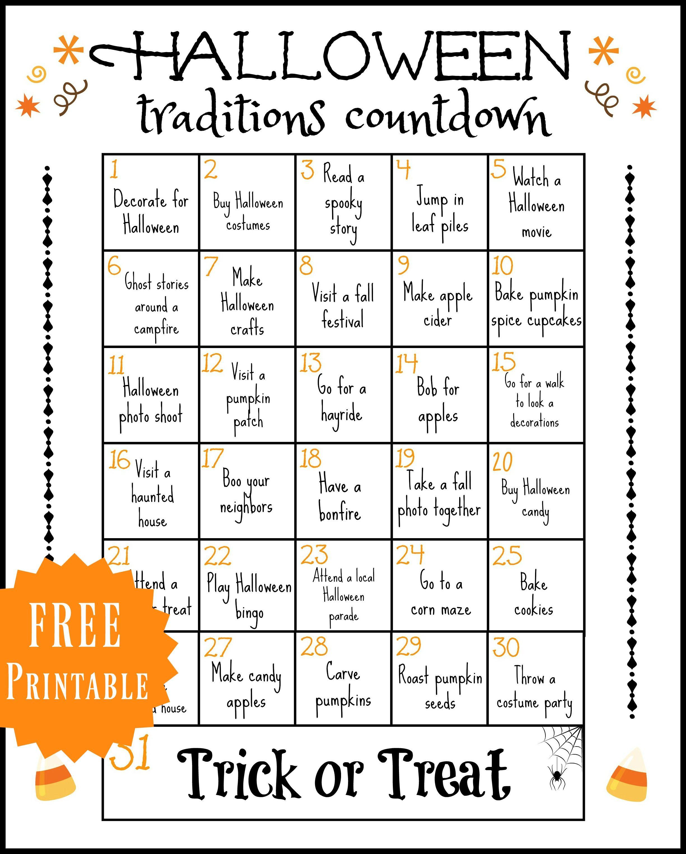 Halloween Traditions Printable | Halloween traditions, Holidays ...