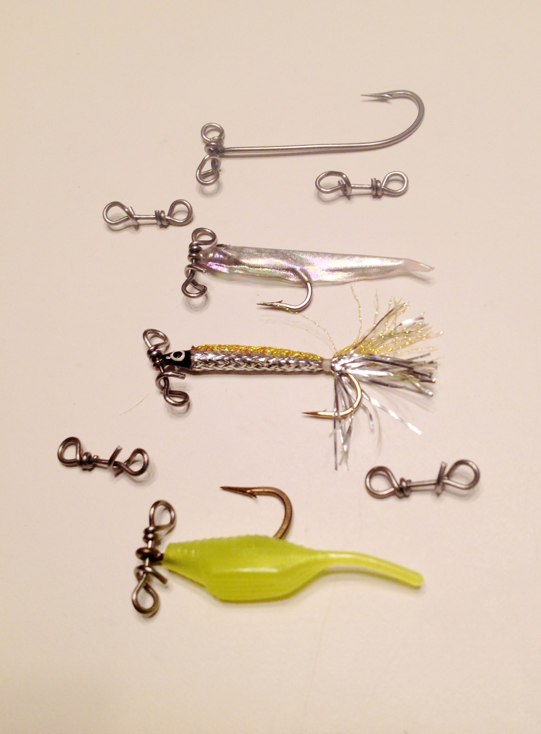 Say goodbye to line twists from drop down jig heads! Use