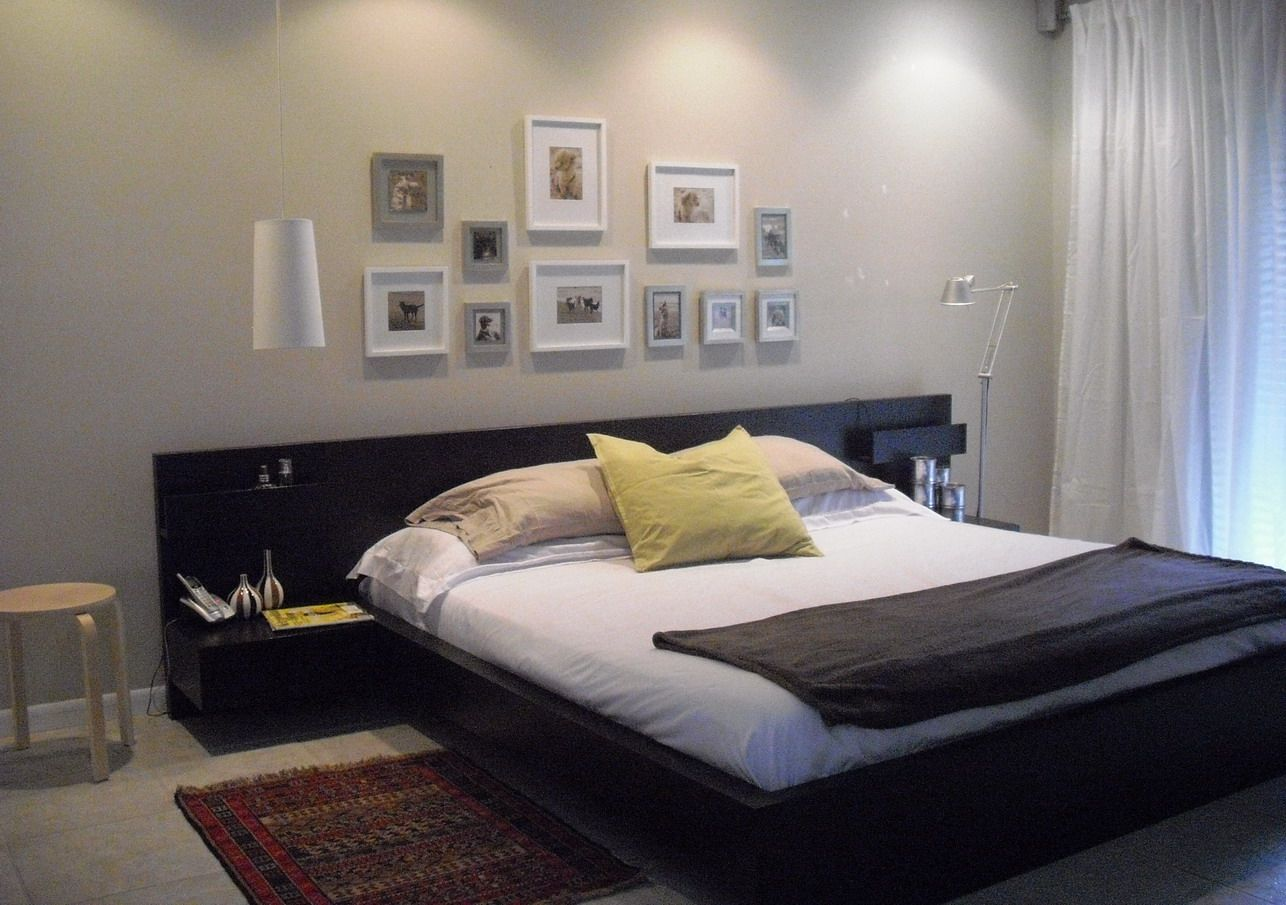 Ikea Malm Bed With Attached Nightstands Is A Good Height That Prevents  Under Bed Clutter.