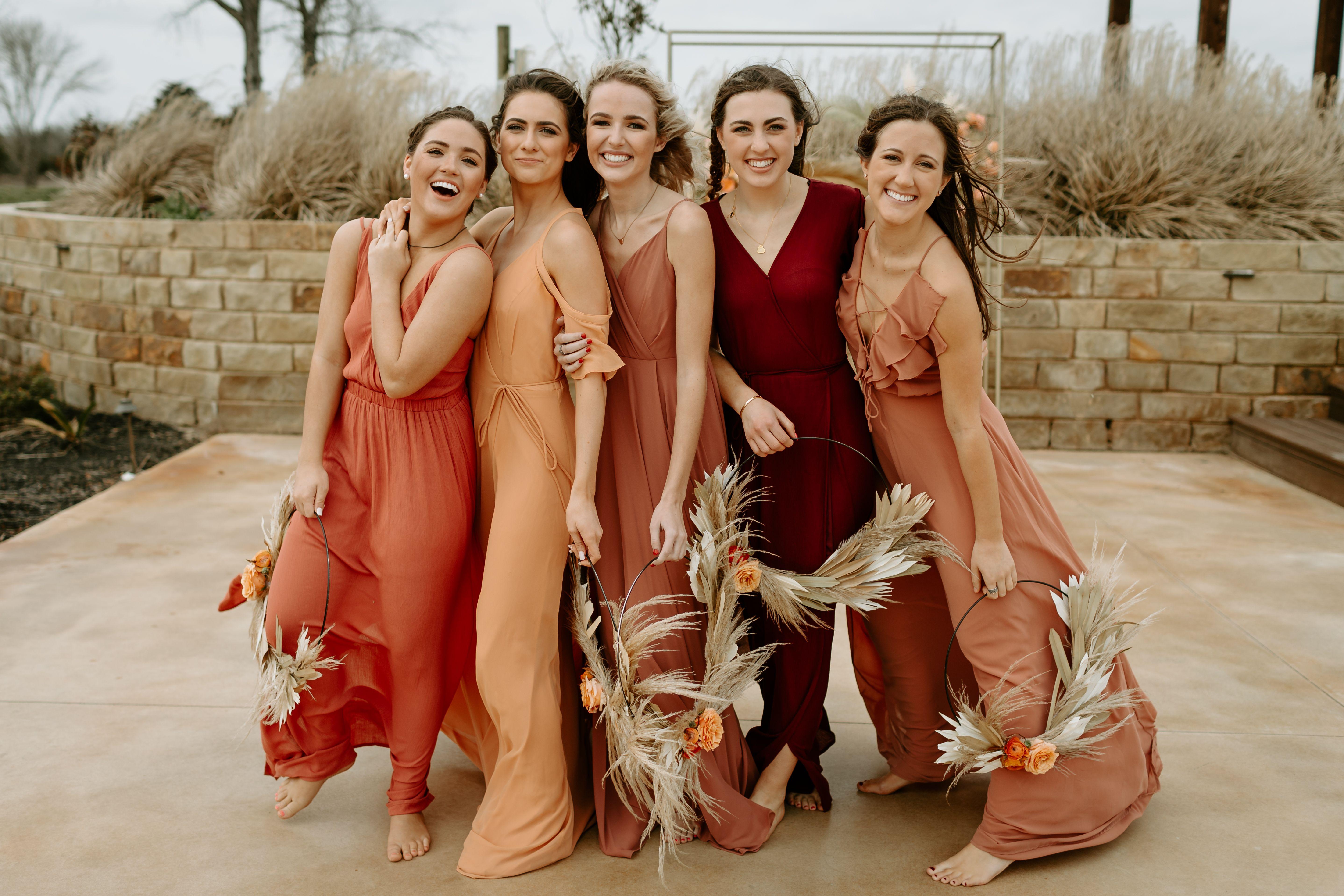 Summer Mix Matched Bridesmaid Dresses Texas Wedding Photography Different Bridesmaid Dresses Mix Match Bridesmaids Dresses Fall Bridesmaid Dresses [ 3835 x 5752 Pixel ]