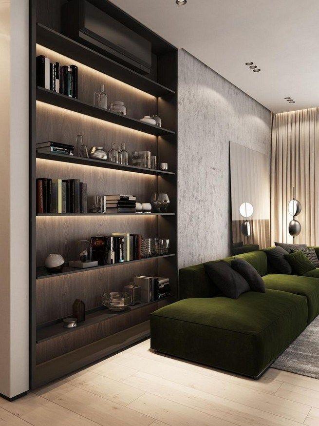 16 Elegant Living Room Shelves Decorations Ideas Lmolnar Apartment Interior Contemporary Living Room Design Apartment Interior Design