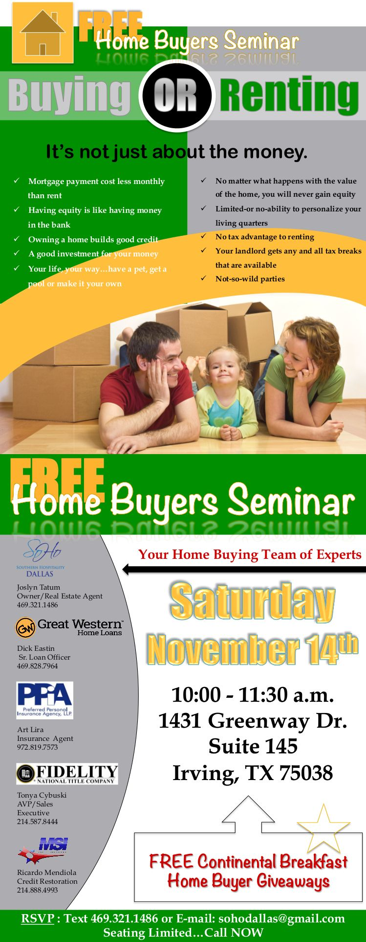 Weren T Able To Make It To Last Week S Free Homebuyer S Seminar Well Here S Another Chance Msi Ceo And Senior Credi Real Estate Postcards Home Buying Seminar Home buyer seminar flyer template