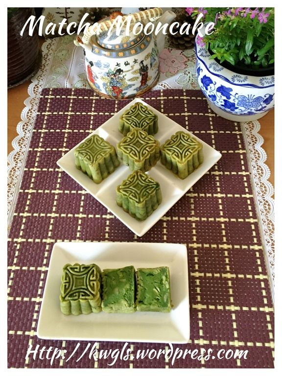 Baked Matcha Moon Cake (绿茶翡翠月饼)#guaishushu #kenneth_goh     #matcha_mooncake  #绿茶月饼