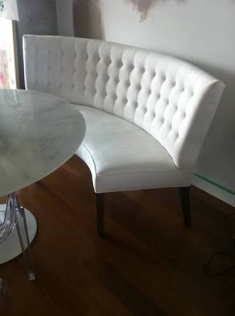 Upholstered Curved Dining Bench With Back Google Search