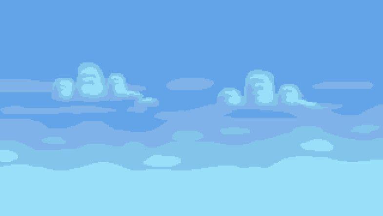 2D Pixel Art Background ( 10 Sky Pixel art background