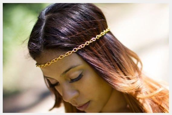 Gold & Love Head chain $17.00 #chain #headwrap #jewelry