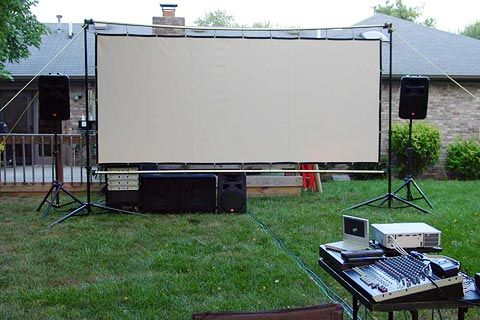 I Am Submitting My Backyard Theater To Your Contest. I Was Reading A  SkyMall Catalog