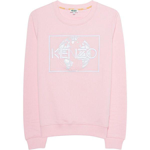 0ab15dc8 KENZO Sweater Globe Rose // Embroidered cotton sweatshirt (£185 ...