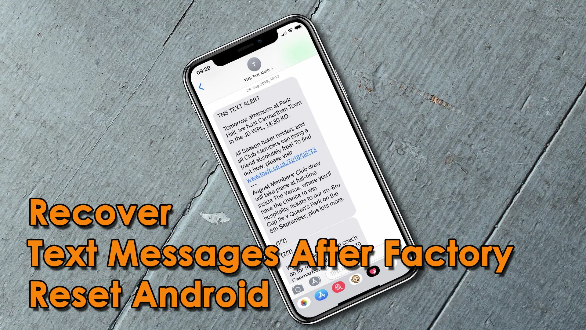 5 Methods How To Recover Text Messages After Factory Reset Android Text Messages Messages Android