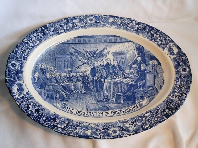 Dinnerware · Staffordshire Liberty Blue ... & Staffordshire Liberty Blue Declaration of Independence Turkey ...