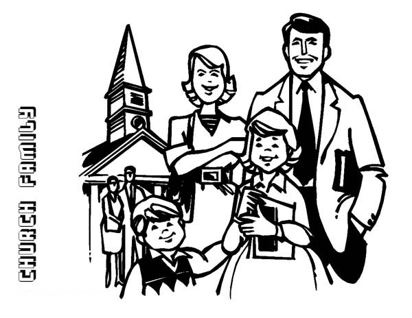 Family Going To Church Coloring Page Coloring Sky Family Coloring Pages Coloring Pages Sunday School Coloring Pages