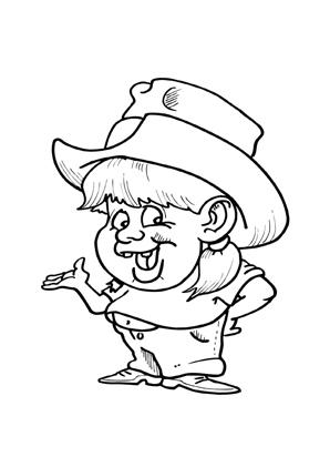 ausmalbilder cowboy mädchen zum kostenlosen ausdrucken und