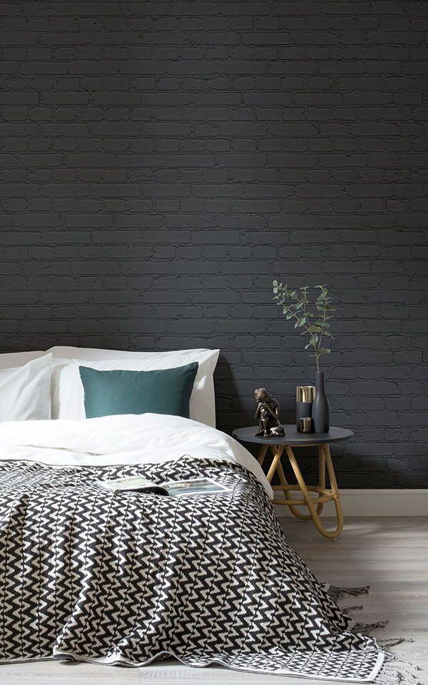 Black Brick Wallpaper | Dark Brick Effect ...
