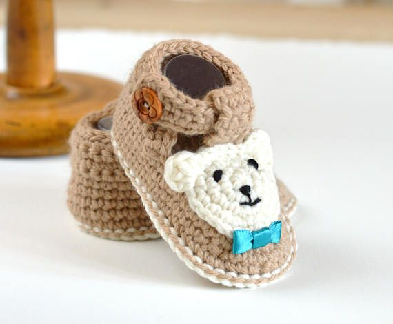 Crochet Pattern For Baby Booties With Bears This Is A Pattern And