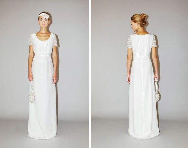 Une jolie robe de mariée de chez Lorafolk, un peu rétro, années folles.