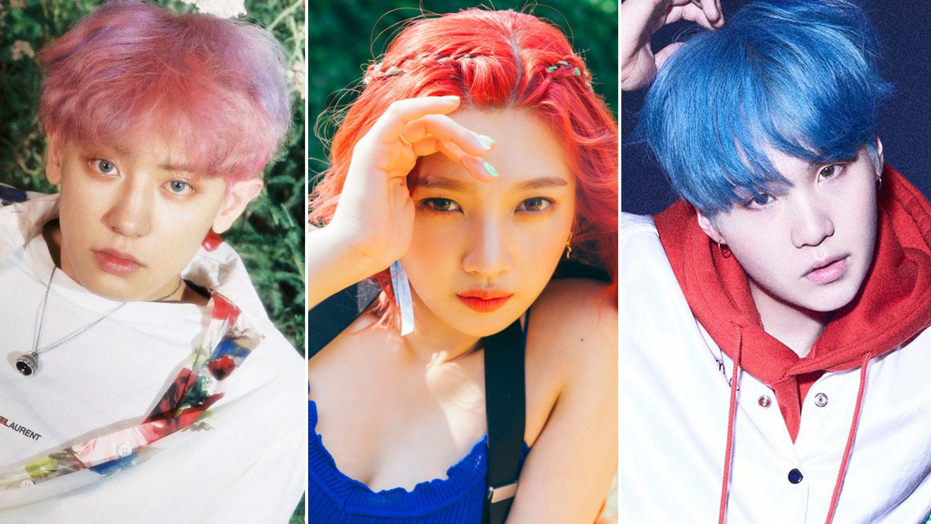 Why It S Such A Big Deal When A K Pop Star Dyes Their Hair Light Hair Color Hair Color Pink Hair Color Highlights