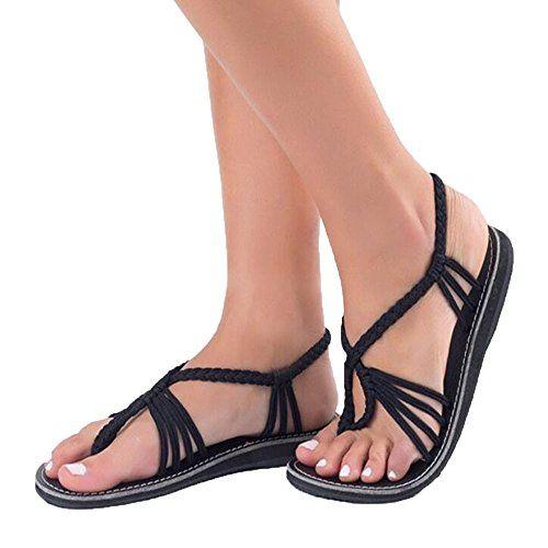 0a42fe9c158 Reaso Femmes Sandales Tongs Chaussures d été Chaussons Chaussures de Plage  Mode Flip Flops Slippers