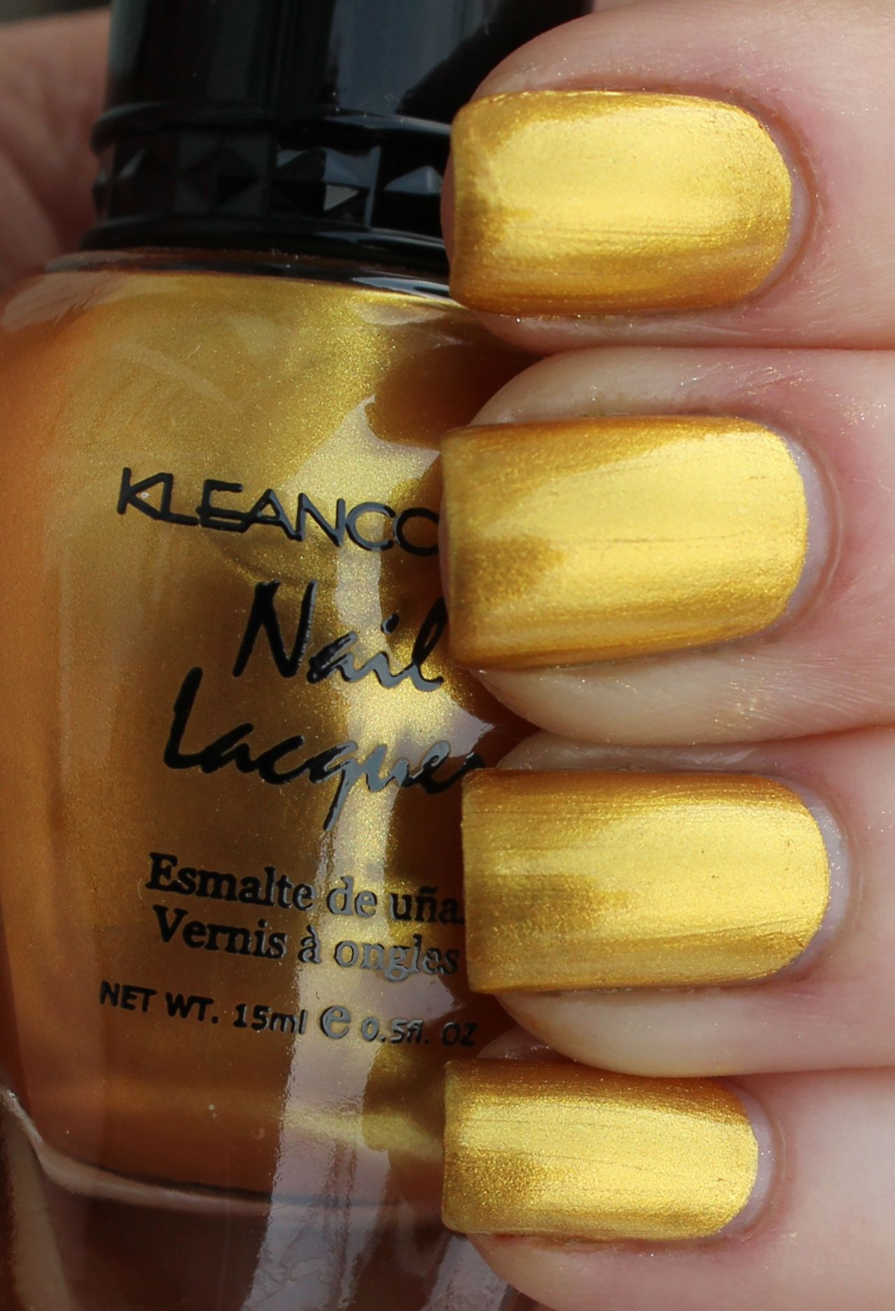 Kleancolor Metallic Yellow swatch - Google Search | Nail Polishes In ...